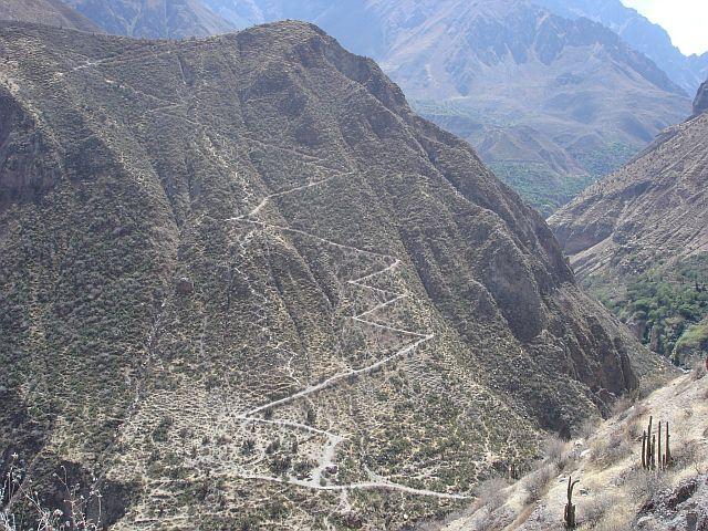 Zdjęcia: Canion Colca, sciezyna trekowa:), PERU