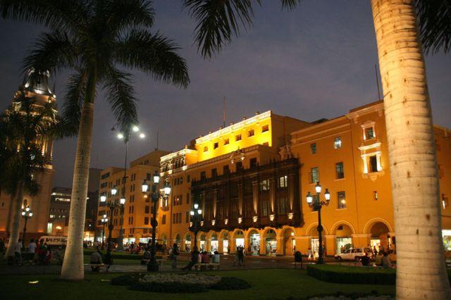 Zdjęcia: LIMA   Główny Plac stolicy, Nocne impresje, PERU