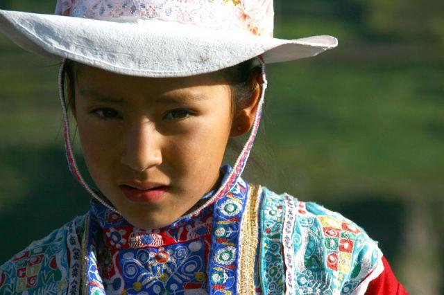 Zdjęcia: Dziewczynka z Chivay, ***, PERU