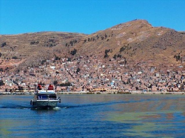 Zdjęcia: Jezioro Titicaca, Altiplano, Port w Puno, PERU