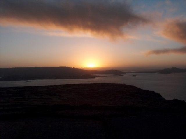 Zdjęcia: Jezioro Titicaca, Altiplano, Zachód słońca z Wyspy Amantani, PERU