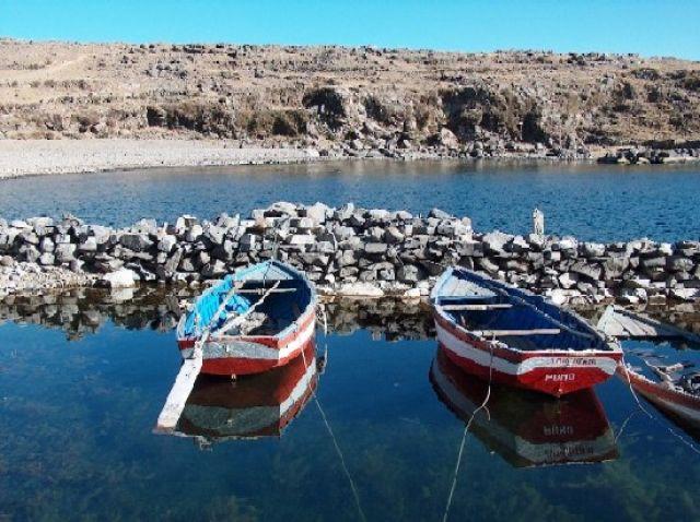 Zdjęcia: Jezioro Titicaca, Altiplano, Port na Wyspie Amantani, PERU