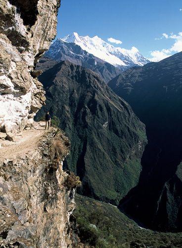 Zdjęcia: kordyliera Vilcabamba, Cusco, nad przepascia, PERU