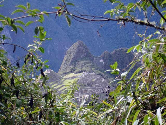 Zdj�cia: Machu Picchiu, Widok na ruiny z drogi do Bramy Slonca, PERU