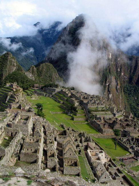 Zdjęcia: Kordyliery, Andy, Machu Picchu ...we mgle Wayna Picchu., PERU