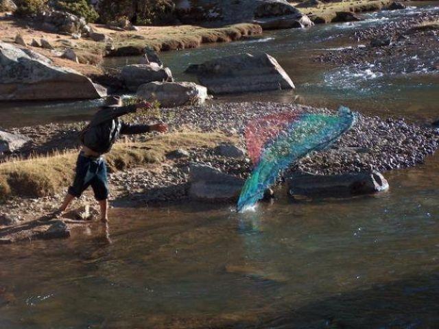 Zdjęcia: Rio Santa Cruz, Cordillera Blanca, Połów ryb, PERU