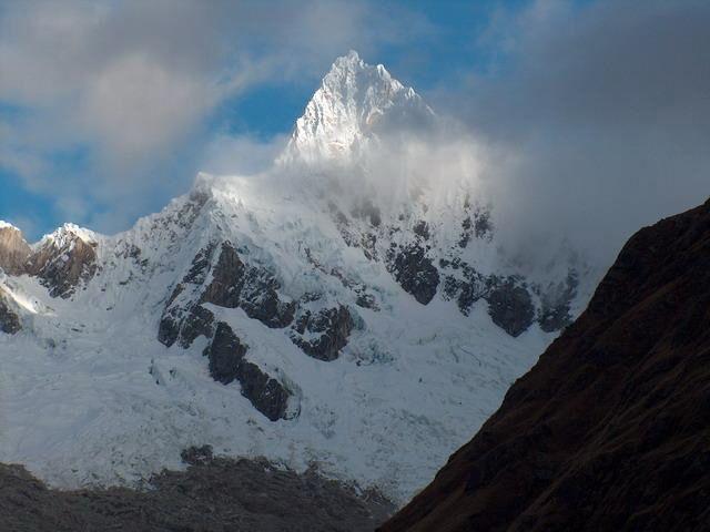 Zdj�cia: Dolina Santa Cruz, Cordillera Blanca, Lodowy szczyt - Alpamayo, PERU