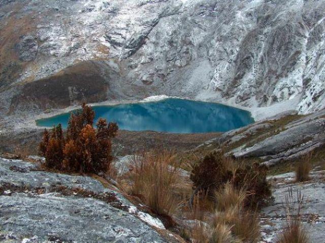 Zdjęcia: Dolina Santa Cruz, Cordillera Blanca, Pod przełęczą Punta Union, PERU