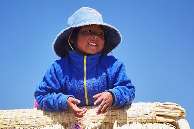 Zdjęcia: Wyspy Uros, jezioro Titticaca, Niebieska, PERU