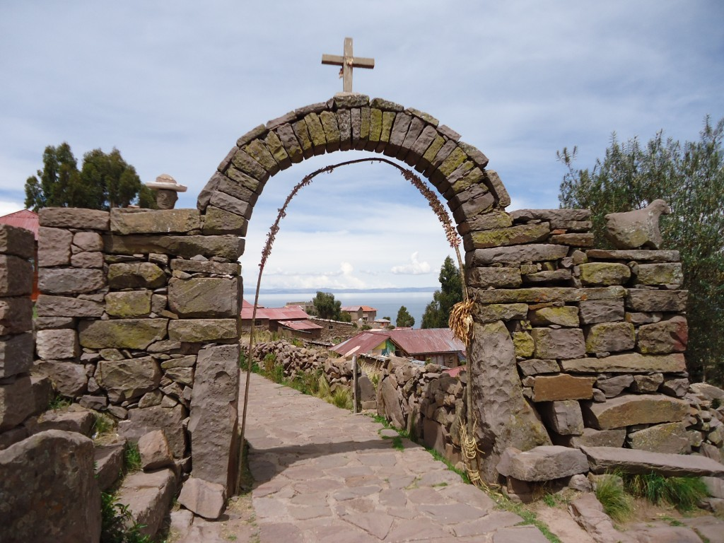 Zdjęcia: Wyspa Taquile (Titikaka), Puno, Brama, PERU