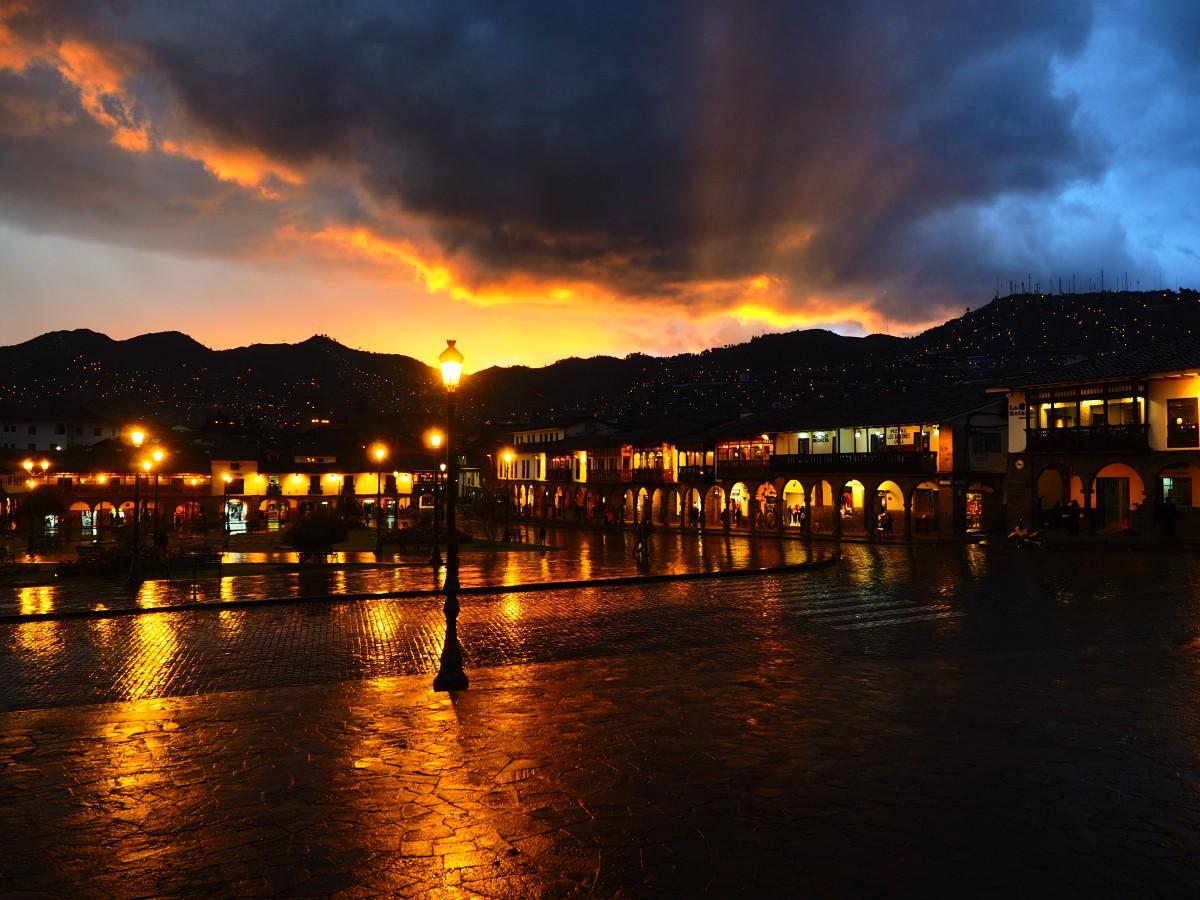 Zdjęcia: Cuzco, Andy, Cuzco nocą, PERU