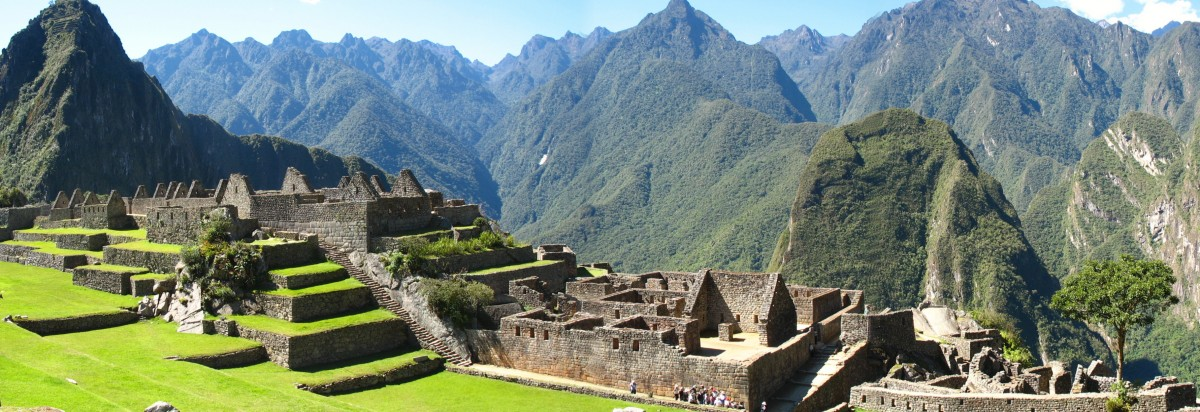 Zdjęcia:  Panorama ze szczytu Machu Picchu, Andy, Machu Picchu, PERU