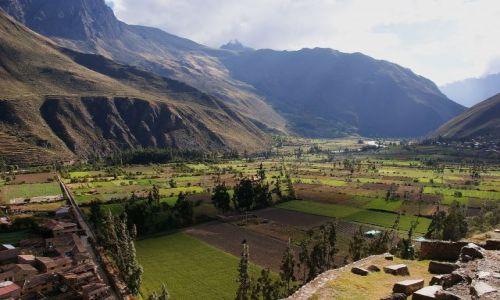 Zdjęcie PERU / Cuscu / Twierdza Ollantaytambo / Widok z twierdzy Ollantaytambo