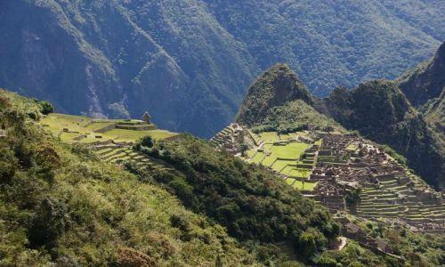 Zdjęcie PERU / Cusco / Machu Picchu / Machu Picchu widziane z drogi Inków