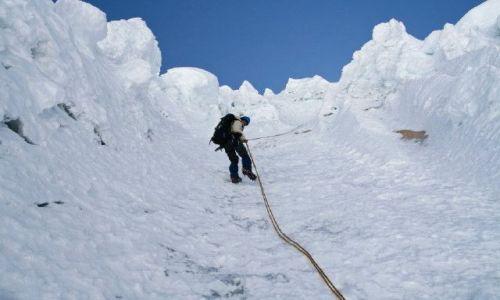 PERU / - / Alpamayo / zejście ze szczytu