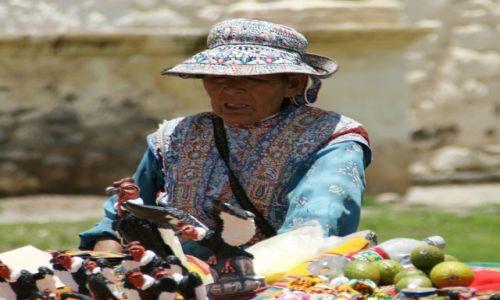 Zdjęcie PERU / Chivay / Chivay / Kondory klamory sprzedaje