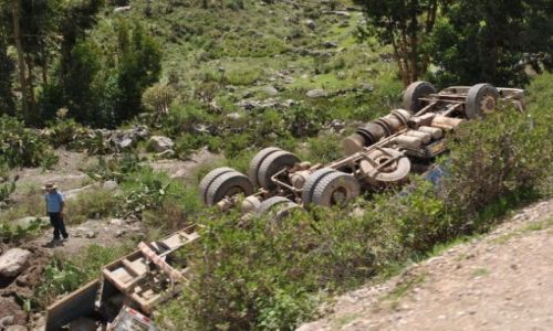 Zdjecie PERU / Andy peruwiańskie / okolice Colca / wypadek w Andach