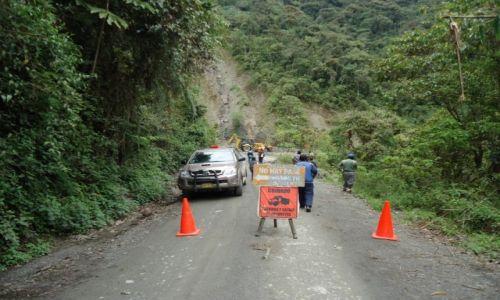 Zdjecie PERU / Cuzco / okolice Paucartambo / Roboty drogowe