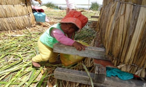 Zdjecie PERU / Puno / Wyspy Uros / Dzieci na Uros (3)