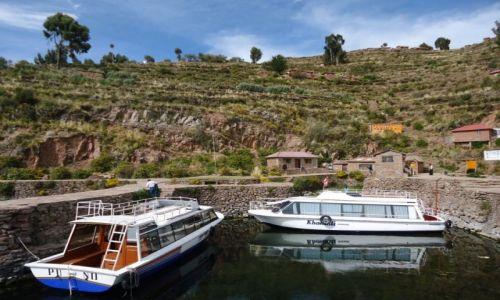 Zdjecie PERU / Puno / Wyspa Taquile (Titikaka) / W porcie