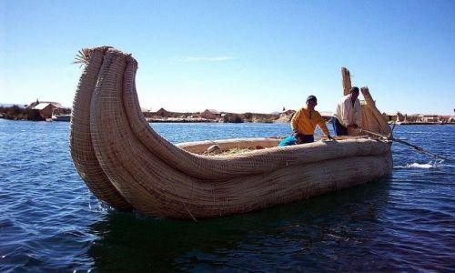PERU / Jez.Titicaca / Wyspy Uros / Nieprzemakalna