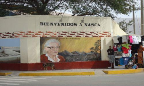 Zdjecie PERU / Ica / Nazca / Mural upamietniający