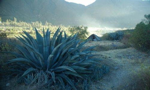 PERU / Arequipa / Cotahuasi / Nocleg w namiocie w drodze do Alca