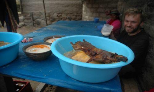 PERU / Arequipa / Cahuana / Świnka Morka na obiad