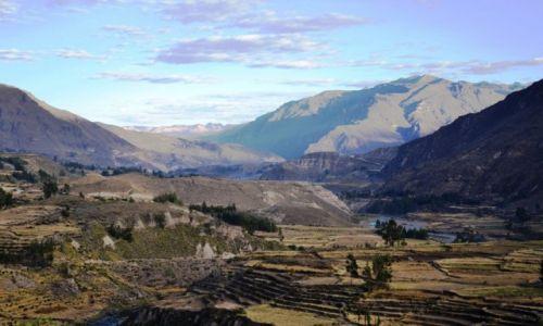 Zdjęcie PERU / Arequipa / okolice Kanionu Colca / Poranne niebo