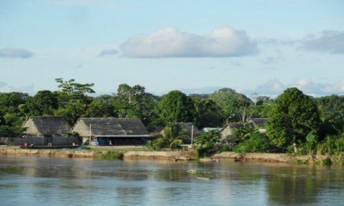 Zdjęcie PERU / Amazonka / Amazonka / domki