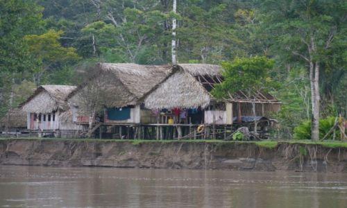 Zdjecie PERU / Pograniczze / Pogranicze / Wioska nad brzegiem Rio Napo
