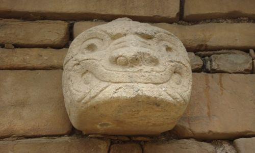 Zdjęcie PERU / Ancash / Chavin de Huantar / Głowa z Chavin