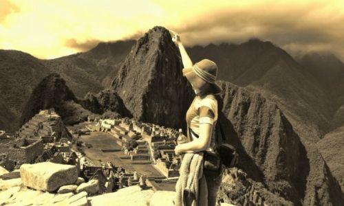 Zdjęcie PERU / Cusco  / Machu Picchu / Huayna Picchu dosłownie na wyciągnięcie ręki