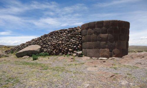 Zdjęcie PERU / Puno / Sillustani / Chullpa z rampą