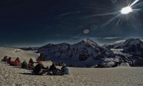 PERU / Cusco / Cordillera Vilcanota / Na szczycie Campa 5500 m np.m.