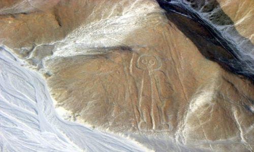 Zdjecie PERU / - / Płaskowyż Nazca / Astronauta z NAZCA