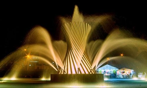 Zdjęcie PERU / Lima / fontanny miejskie / fontanna