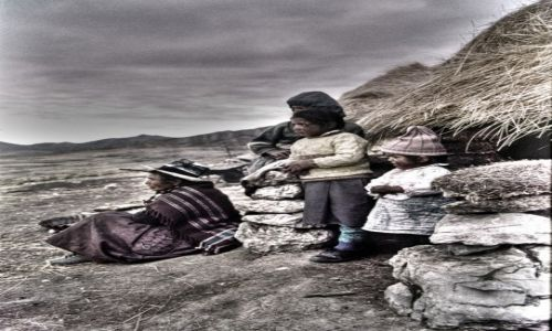 Zdjecie PERU / góry Huayhuash / góry Huayhuash / Rodzina Quechua