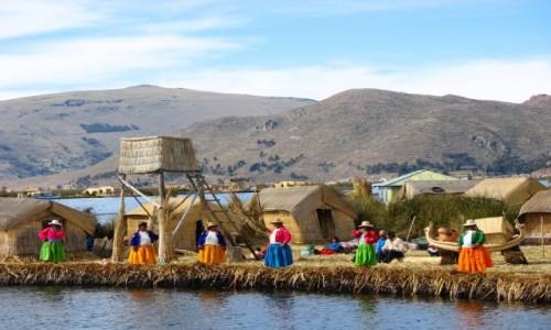 Zdjecie PERU / - / Jezioro Titicaca, wyspa Uros / W oczekiwaniu na turystów...