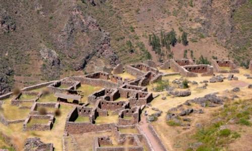 Zdjęcie PERU / Andy / Święta Dolina Inków / Widok ruin Pisac ze ścieżki