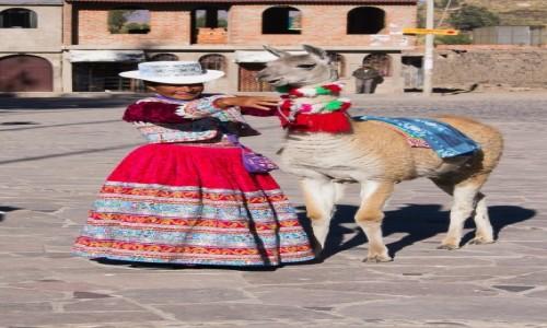 Zdjęcie PERU / Arequipa / wioska Yanque w dolinie Colca / Dwa uśmiechy