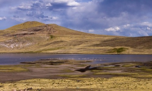 PERU / / / jeziorko po drodze / W drodze do Puno
