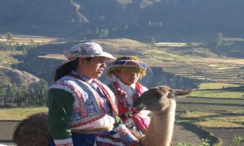 Zdjecie PERU / Kanion Colca / Kanion Colca / Inkaski strój l