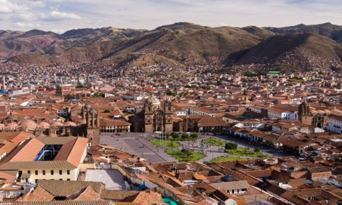 Zdjecie PERU / / / widok na Plaza de Armas i miasto / Cusco wju