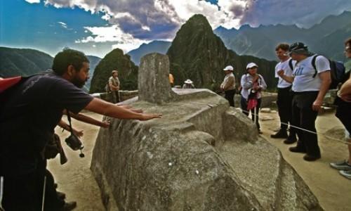 PERU / Cusco / Machu Picchu / Intihuatana,