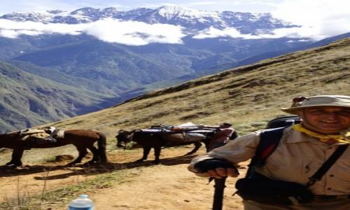 PERU / Cusco / Choquequirao / Autor  na szlaku do Choquequirao