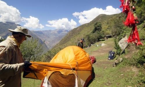 PERU / Cusco / Choquequirao / Na rogatkach Choquequirao, ustawiliśmy nasze namioty.