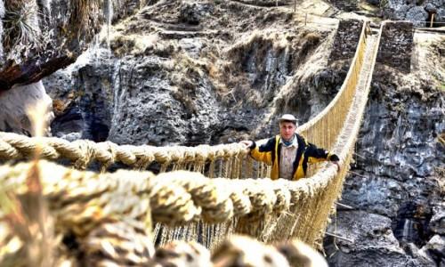Zdjecie PERU / Cusco / Apurimac / Wiszący most Q'eswachaka na rzece Apurimac