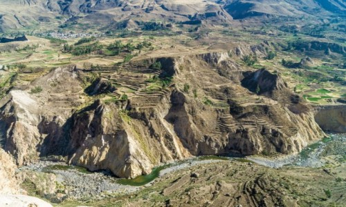PERU / Arequipa / Dolina Colca / Tarasy Doliny Colca