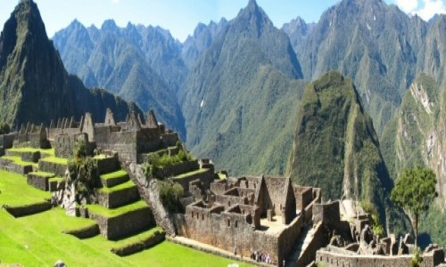 PERU / Andy /  Panorama ze szczytu Machu Picchu / Machu Picchu